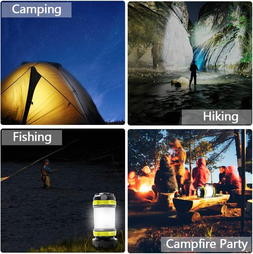 Emergencia y M/ás luz de Trabajo Resistente al Agua para Senderismo Pesca Antorcha LED UYIKOO 1000 Lumen CREE con 4 Modos de luz y Banco de Energ/ía de 4000 mAh L/ámpara de Camping Recargable