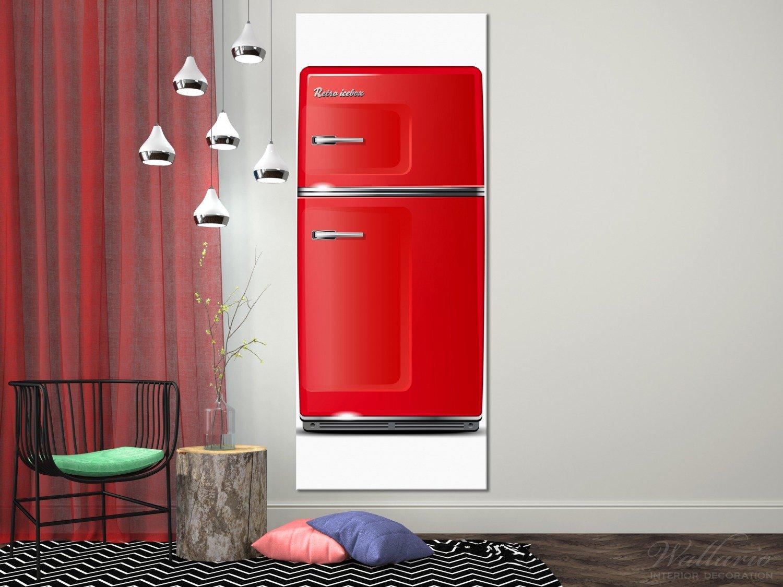 Kühlschrank Xxxl : Wallario xxxl riesen leinwandbild roter kühlschrank cm