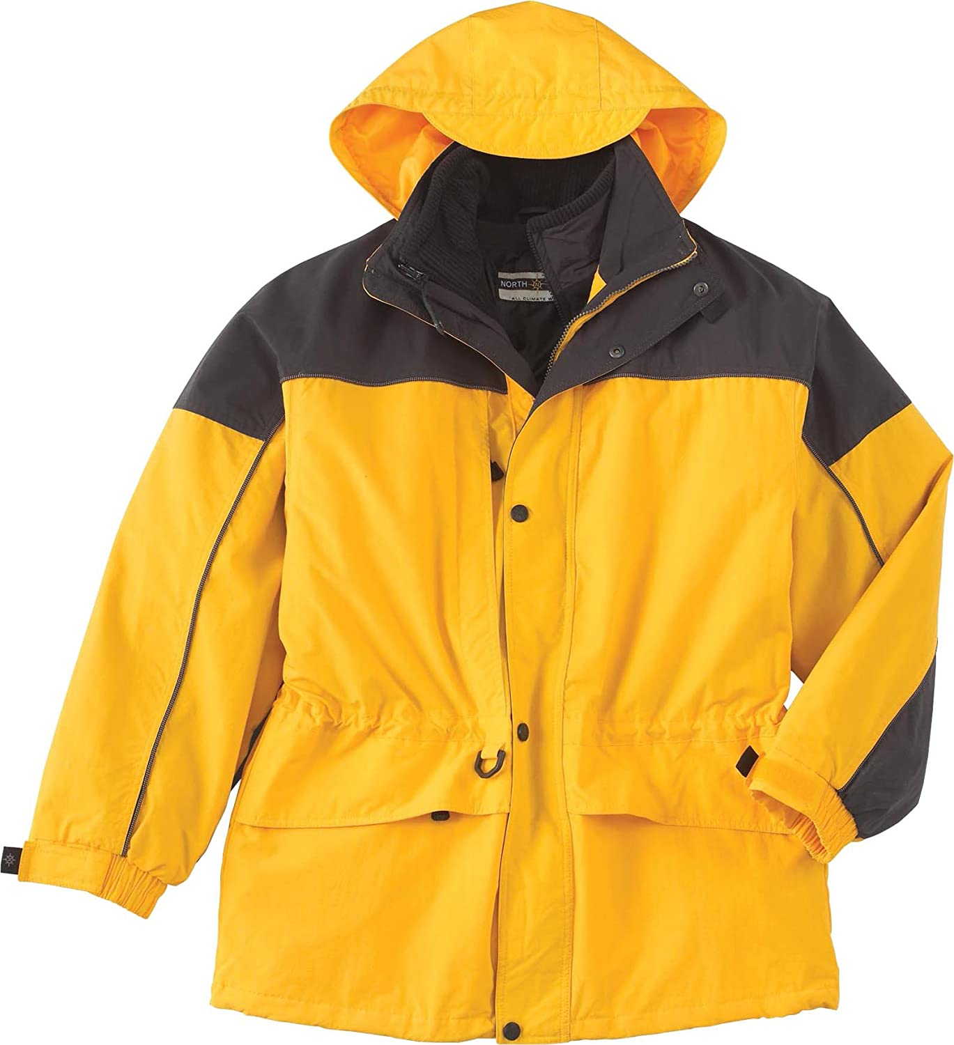 88006-Sunray//Black North End Mens 3-in-1 Two-Tone Parka