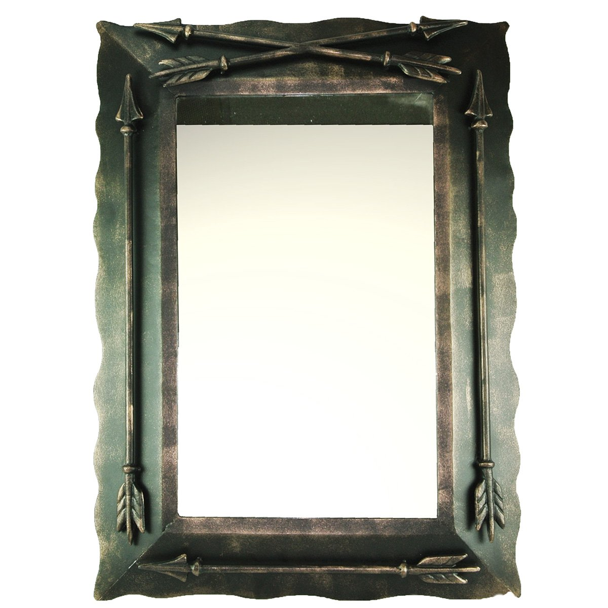 DeLeon Collections Western Metal Arrow Wall Mirror
