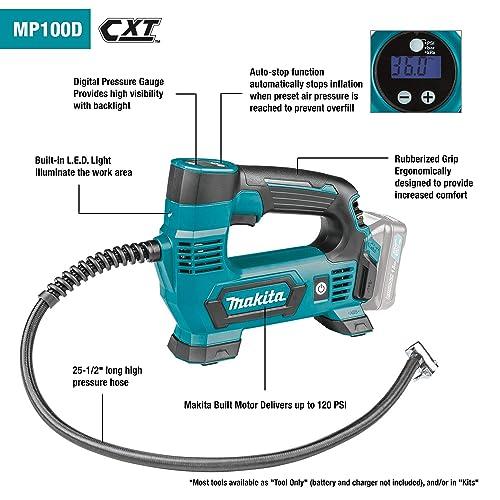 Makita MP100DWRX1 12V Max CXT Lithium-Ion Cordless Inflator Kit 2.0Ah