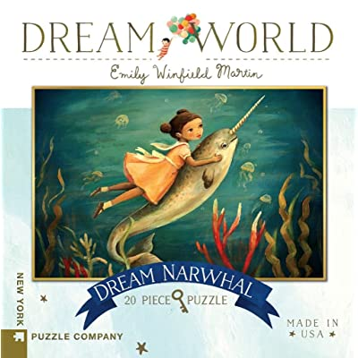 New York Puzzle Company - Dream World Dream Narwhal - 20 Piece Jigsaw Puzzle: Toys & Games