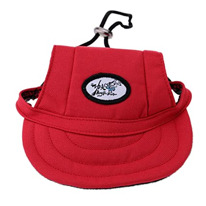AOBILE(TM)Fashion Adorable Dog Visor Breathable Fabric Comfortable Baseball  Hat Pet Sun Hat d6469f86778c
