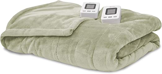 SensorPedic Heated Electric Blanket with Sensor-Safe Ivory Queen