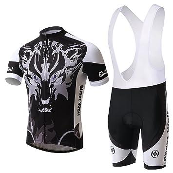 Hebike Fantasma Lobo Hombre Jersey para Bicicleta Ciclismo ...