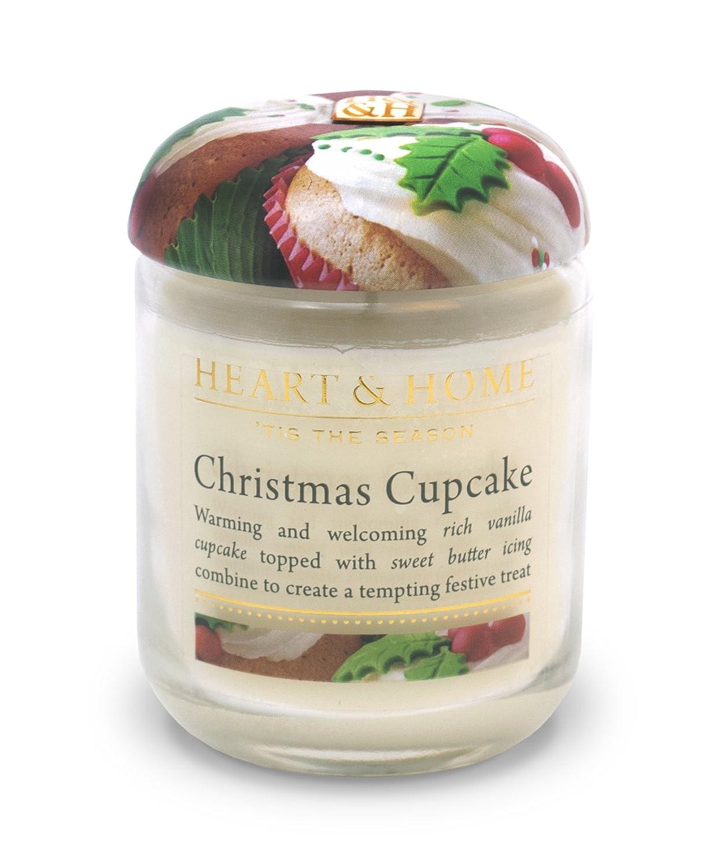 Heart & Home Small Glass Christmas Cupcake Candle History & Heraldry 00275010403