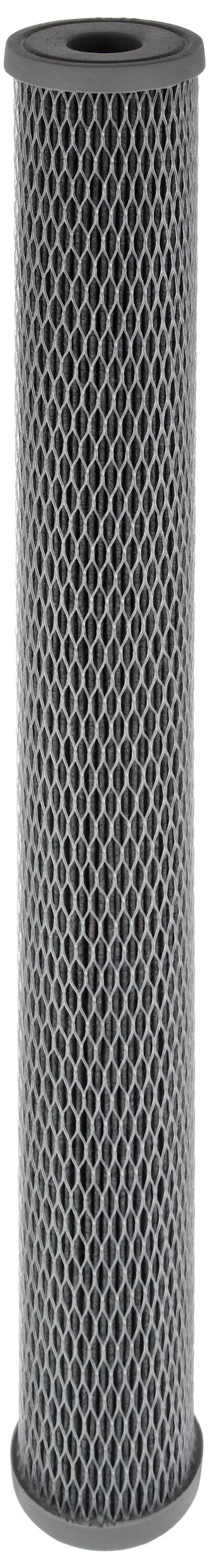 Pentek NCP-20 Pleated Carbon-Impregnated Polyester Filter Cartridge, 20'' x 2-1/2'', 10 Microns