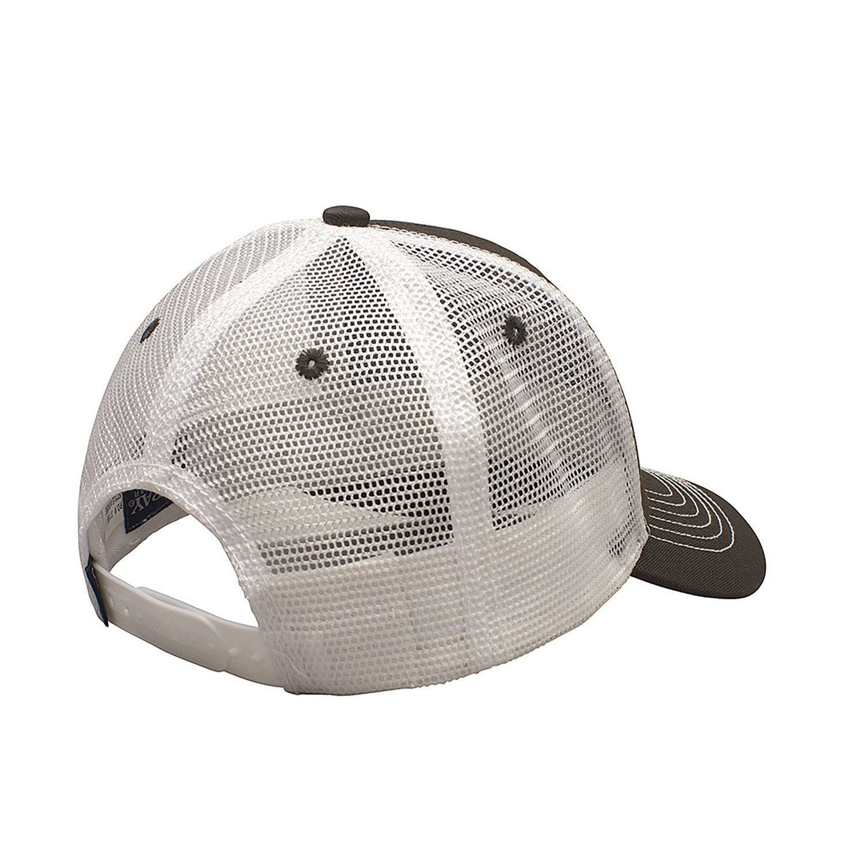 Ouray Sportswear Unisexs Youth Sideline Mesh Cap Adjustable Size Dark Grey//White
