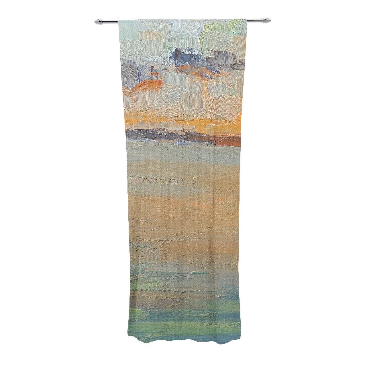 Kess InHouse Bruce Stanfield Ambient #1 Teal Digital Decorative Door 2 x 3 Floor Mat