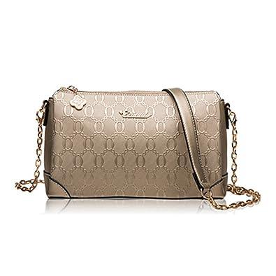 cf340b9ecb KEBINAI Summer Autumn Lady Handbags Fashion Leather Shoulder Messenger Bags  for Teenager Girl Crossbody Bolos Gold  Handbags  Amazon.com