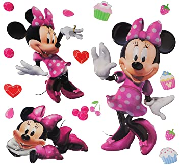 minnie mouse wandtattoo reuniecollegenoetsele. Black Bedroom Furniture Sets. Home Design Ideas