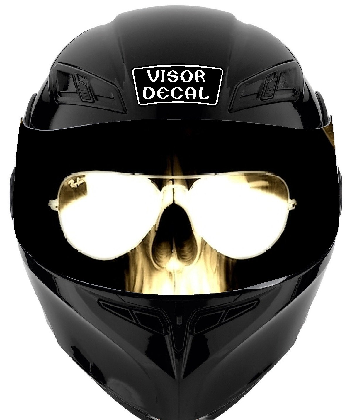 V39 Skull VISOR TINT DECAL Graphic Sticker Helmet Fits: Icon Shoei Bell HJC Oneal Scorpion AGV