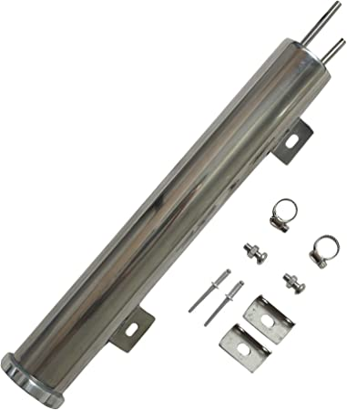 """2/""""x15/""""Polished Stainless Steel Radiator Universal Overflow Tank For Universal"""