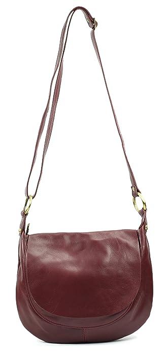 24c2ff3884 OH MY BAG Sac à main cuir lisse Perla prune: Amazon.fr: Chaussures ...