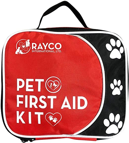 Rayco International Pet First Aid Kit with LED Safety Collar- Best For All Supplies