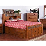 Sunny Designs 2333dc Sq Santa Fe Storage Bed With Slate Queen Kitchen Dining
