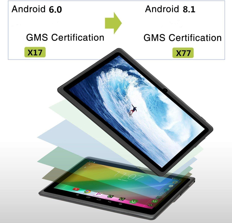 Tablet 7 Pulgadas Android 8.1 Quad Core 1024x600 Doble Cámara WiFi ...