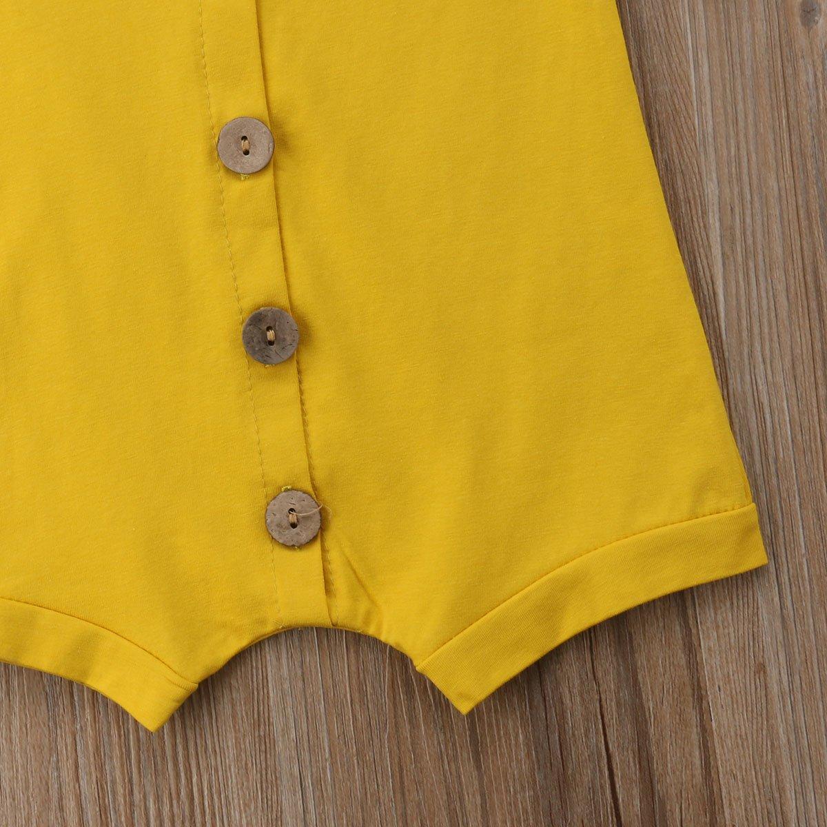Meipitgy Infant Newborn Baby Boys Girls Romper Bodysuit Jumpsuit Outfits Overalls Clothes 0-24 M Black