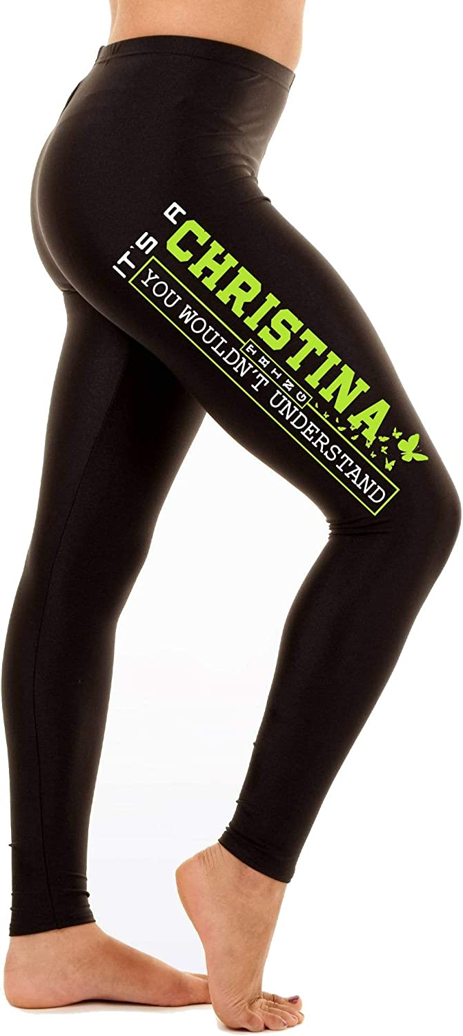 St Patricks Day Leggings for Women Its a Christina Thing You Woudnt Understand