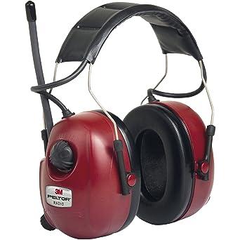 3M PELTOR HRXS7A-01 Orejeras con radio FM estéreo 32dB rojas (1 orejera/