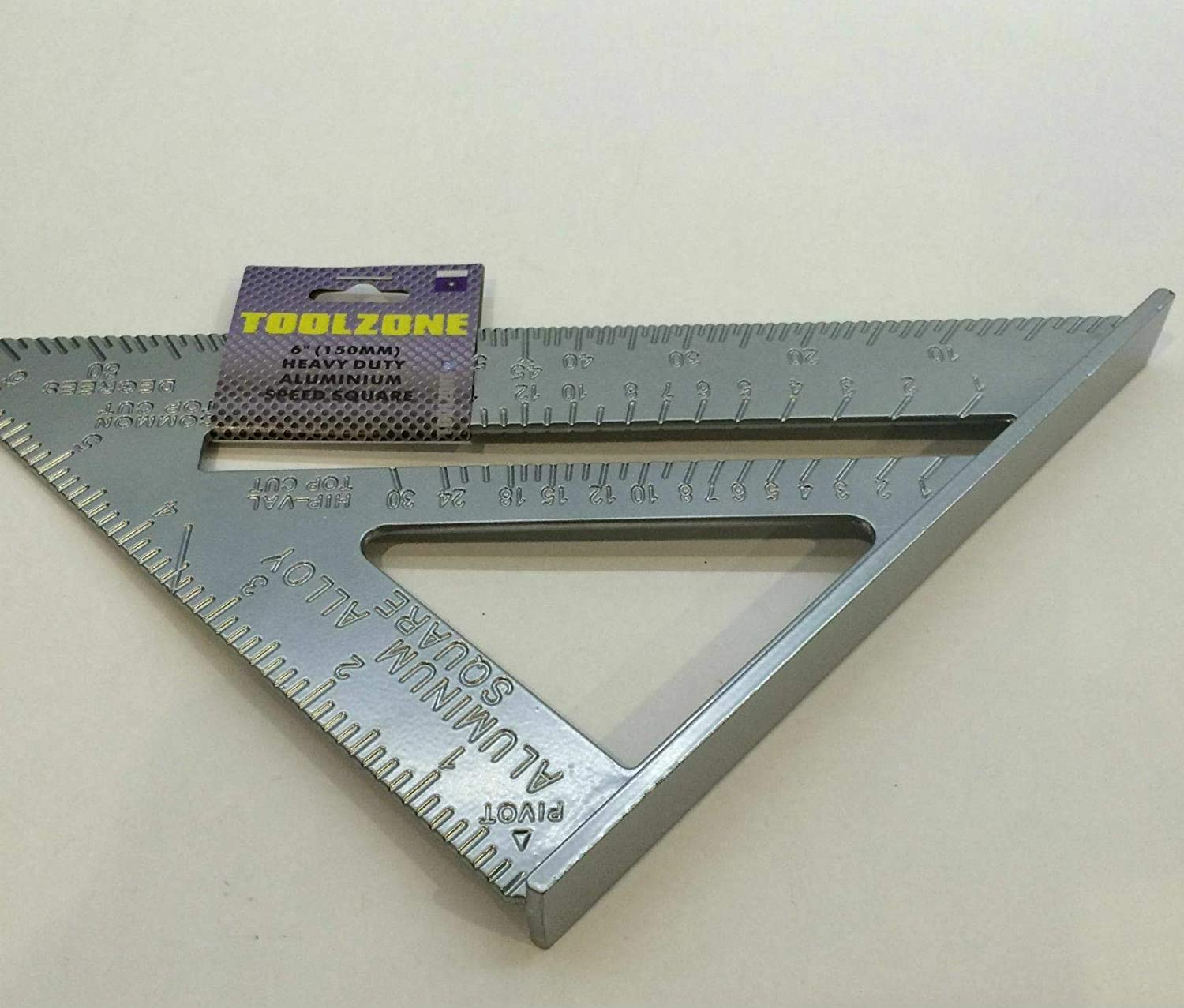 Unibos 6 Aluminium Alloy Roofing Rafter Speed Square Triangle Angle Guide Roof