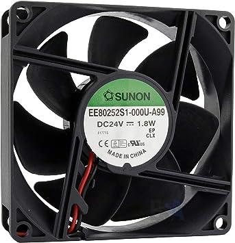 Sunon Ventilador 80 mm 80 x 80 x 25 EE80252S1-000U-A99 24 V DC Air ...
