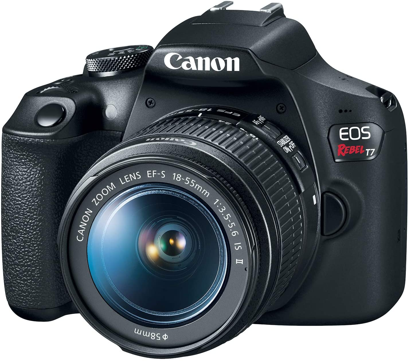 Canon EOS Rebel T7 DSLR Camera with 18-55mm Lens | Built-in Wi-Fi|24.1 MP CMOS Sensor | |DIGIC 4+ Image Processor and Full HD Videos