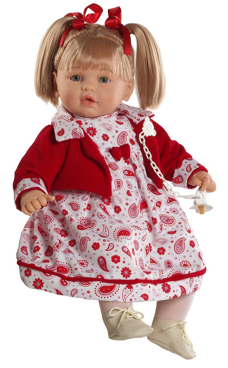 Amazon.es: Berbesa - Baby dulzona llorona, muñeca con vestido rojo ...