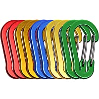Mini Skater 1.96 inch/5cm Gourd Shape Aluminum Clip Spring Snap Keychain Clip Hook Buckle for Keychain, Backpack, Camping, Hiking and Traveling,10Pcs