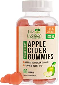 Apple Cider Vinegar Gummies for Weight Support & Cleanse - 1000mg - Delicious ACV Gummy Vitamins with The Mother - Alternative to Apple Cider Vinegar Capsules, Pills, Tablets - 60 Gummies