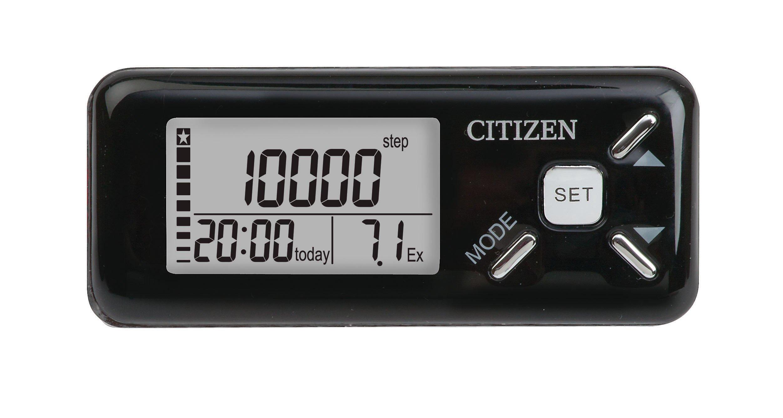 Citizen TW-610B Deluxe Pedometer, Black
