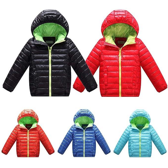 16f392c6f Amazon.com  WENJHEN Kids Boys Girls Duck Down Winter Coat Hooded ...