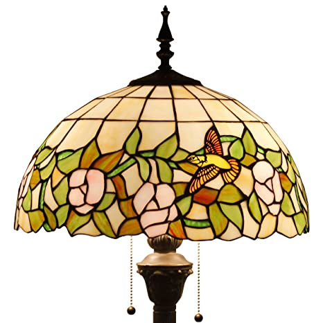 Tiffany style floor lamp light s064 series 16 inch wide hummingbird tiffany style floor lamp light s064 series 16 inch wide hummingbird shade e26 aloadofball Image collections