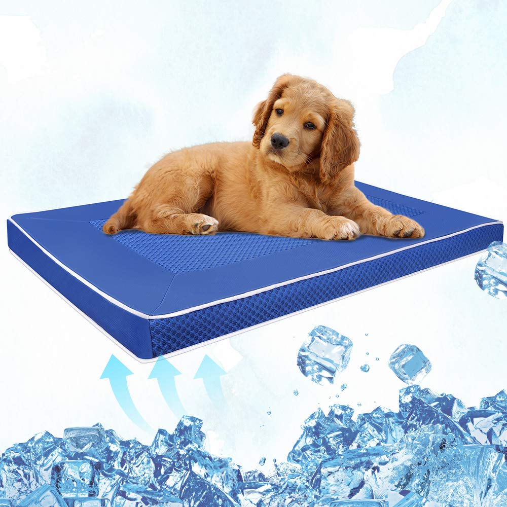 Isbasa Dog Cooling Mat, 29x18x1.7inch Nylon Oxford Pet Cool Pad, Keep Your Dog Cool in This Summer