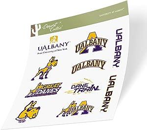 University at Albany UALBANY Great Danes SUNY NCAA Sticker Vinyl Decal Laptop Water Bottle Car Scrapbook (Full Sheet)