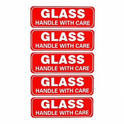 image about Fragile Glass Labels Printable titled 300 1x3\