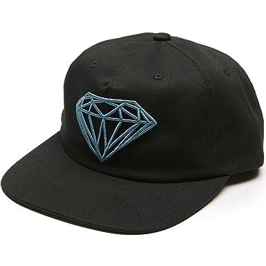 low priced 8f79b e5028 Amazon.com  Diamond Supply Co. Brilliant Unconstructed Snapback Hat  (Black)  Clothing