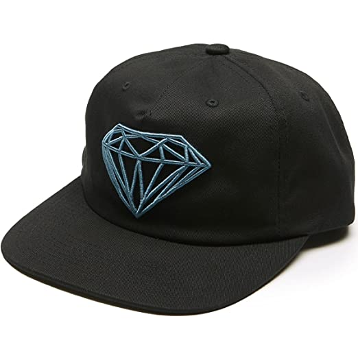 4f471c64d9e Amazon.com  Diamond Supply Co. Brilliant Unconstructed Snapback Hat (Black)   Clothing