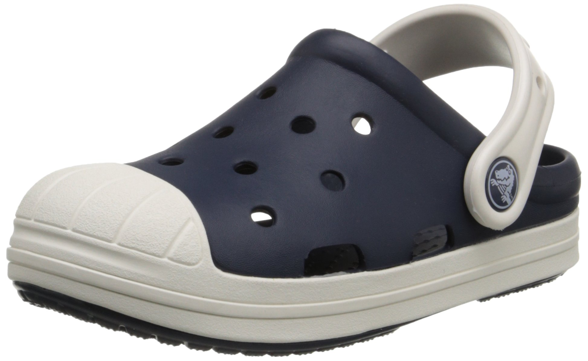 Crocs Bump It Clog (Toddler/Little Kid/Big Kid), Navy/Oyster, 6 M US Toddler