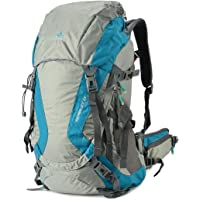 TOFINE External Frame Camping Backpack with Rain Cover Black 32l