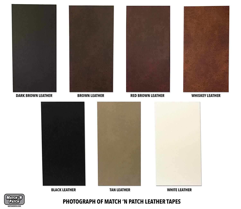 Match n Patch realista cinta de piel de color marrón oscuro