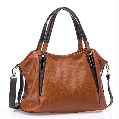 4de27b51a2 UTAKE Women Handbags Leather Handbags Shoulder Bag Lichi Grain PU Leather  Tote Bag UT04 Brown