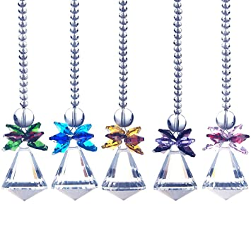 Hd clear crystal diamond shape prism pendant hanging sun catcher hd clear crystal diamond shape prism pendant hanging sun catcher handcrafts pack aloadofball Image collections