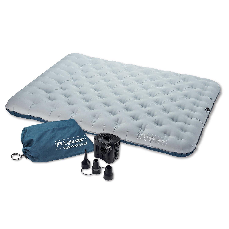 Lightspeed Outdoors 2 persona sin PVC cama de aire colchón de camping y viaje - 27613-FK, Gris/Azul: Amazon.es: Deportes y aire libre