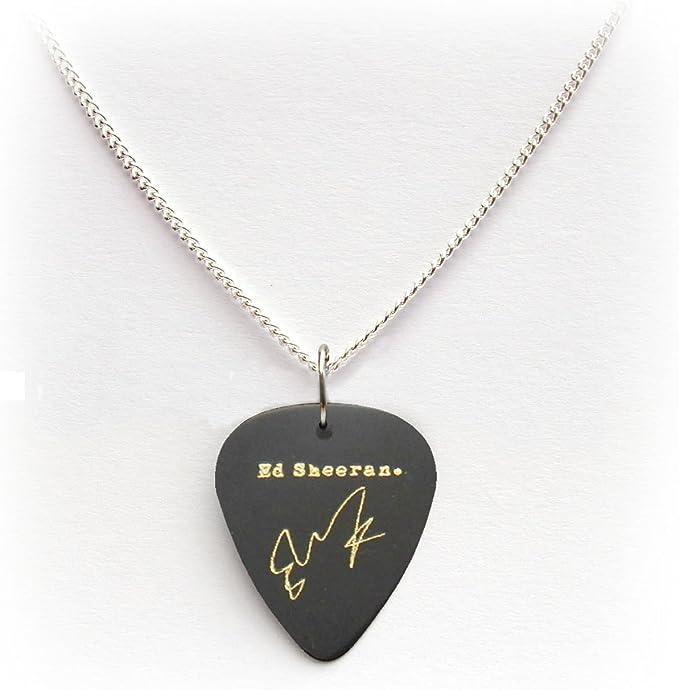 Firma de Ed Sheeran púa de guitarra Plectrum llavero pulsera collar pendientes Pin, 24