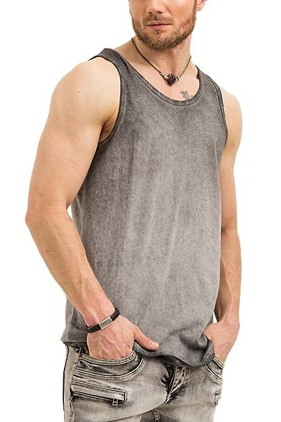 trueprodigy Casual Hombre Marca Camiseta De Tirantes Basico Ropa Retro  Vintage Rock Vestir Moda Cuello Redondo 54cb796909e