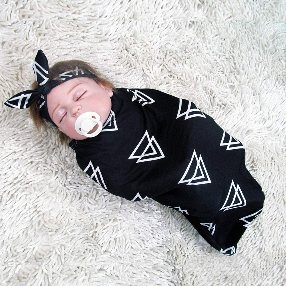Babyschlafsack Haarband Amyove 2 St/ück Baby Pucksack Stirnband Haarband Zweiteiliger Anzug f/ür 0-3 Monate Baby Bear 0-3M