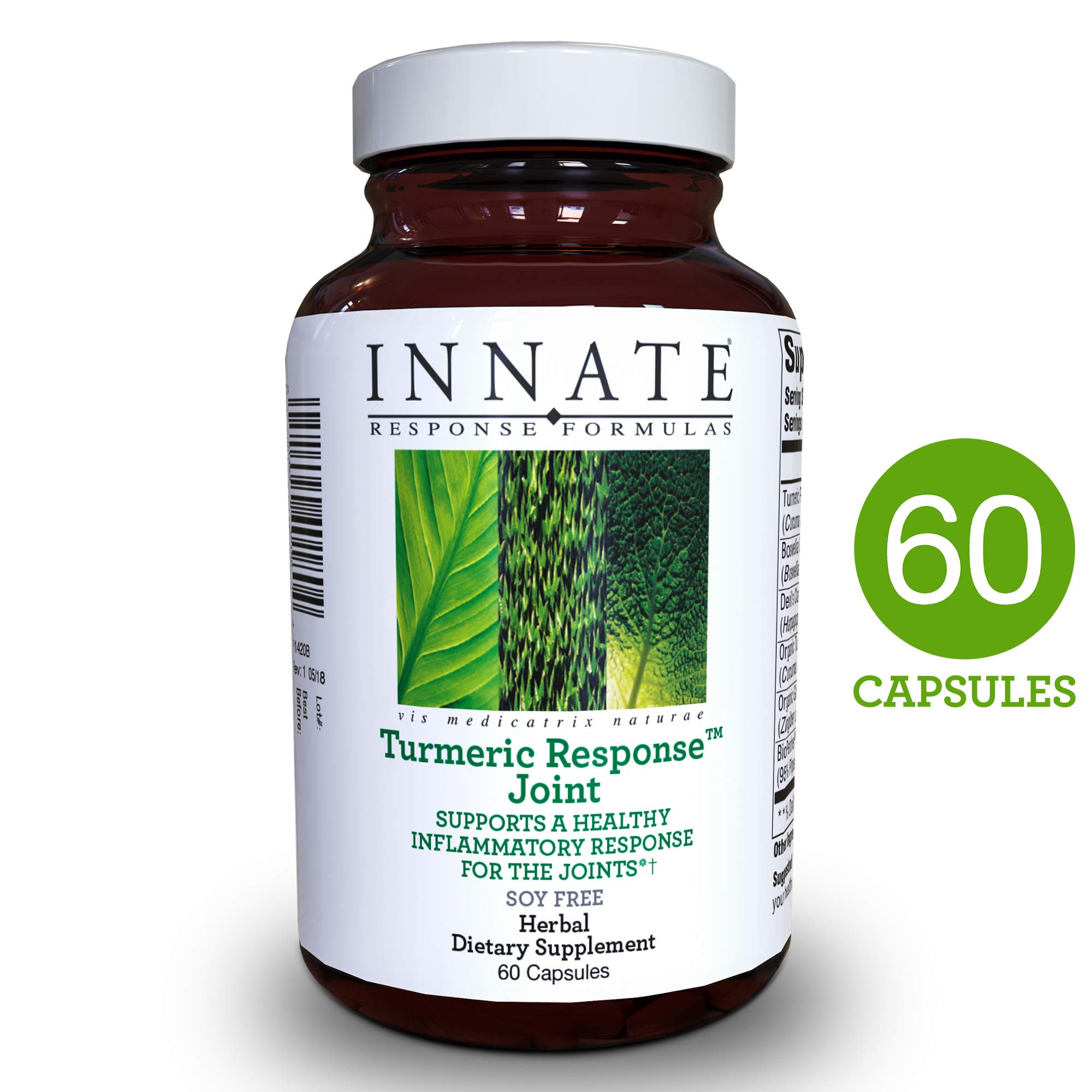INNATE Response Formulas - Turmeric Response Joint, Support for Healthy Inflammatory Response in The Joints with BioPerine Black Pepper Fruit Extract and Devil's Claw, 60 Capsules