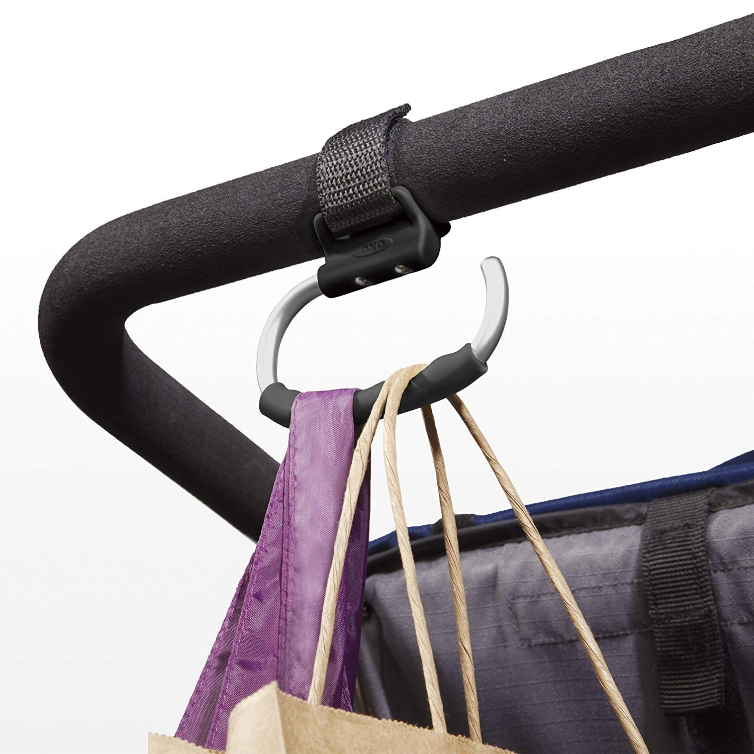 OXO Tot Handy Stroller Hook, Grey (4 Pack) by OXO (Image #2)