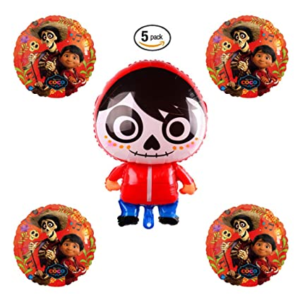 Amazoncom Coco Miguel Day Of The Dead Balloon Bundle Pack Of 5
